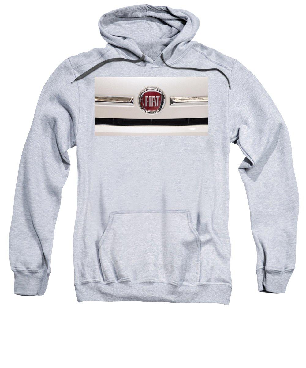 Fiat Sweatshirt featuring the photograph Fiat Logo by Valentino Visentini