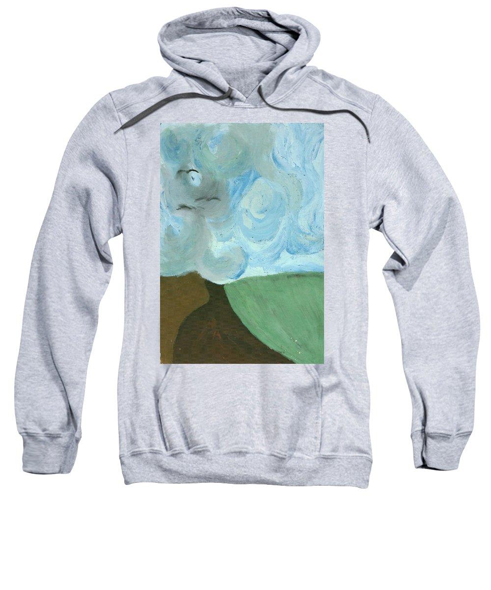 Colour Sweatshirt featuring the painting Field by Wojtek Kowalski