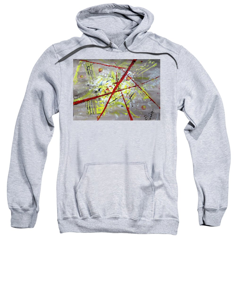 Abstract .futurism Sweatshirt featuring the painting Finding Yourself by Errol Jameson
