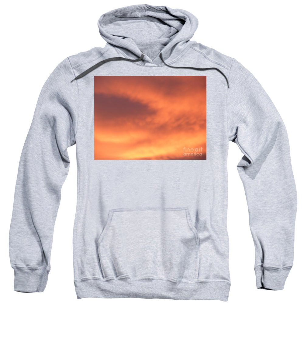 Sky Sweatshirt featuring the photograph Fire Clouds by Joseph Baril
