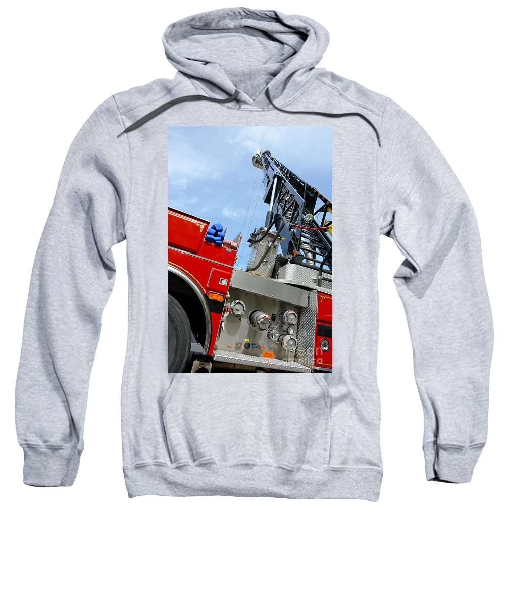 Fire Sweatshirt featuring the photograph Fire Engine by Olivier Le Queinec