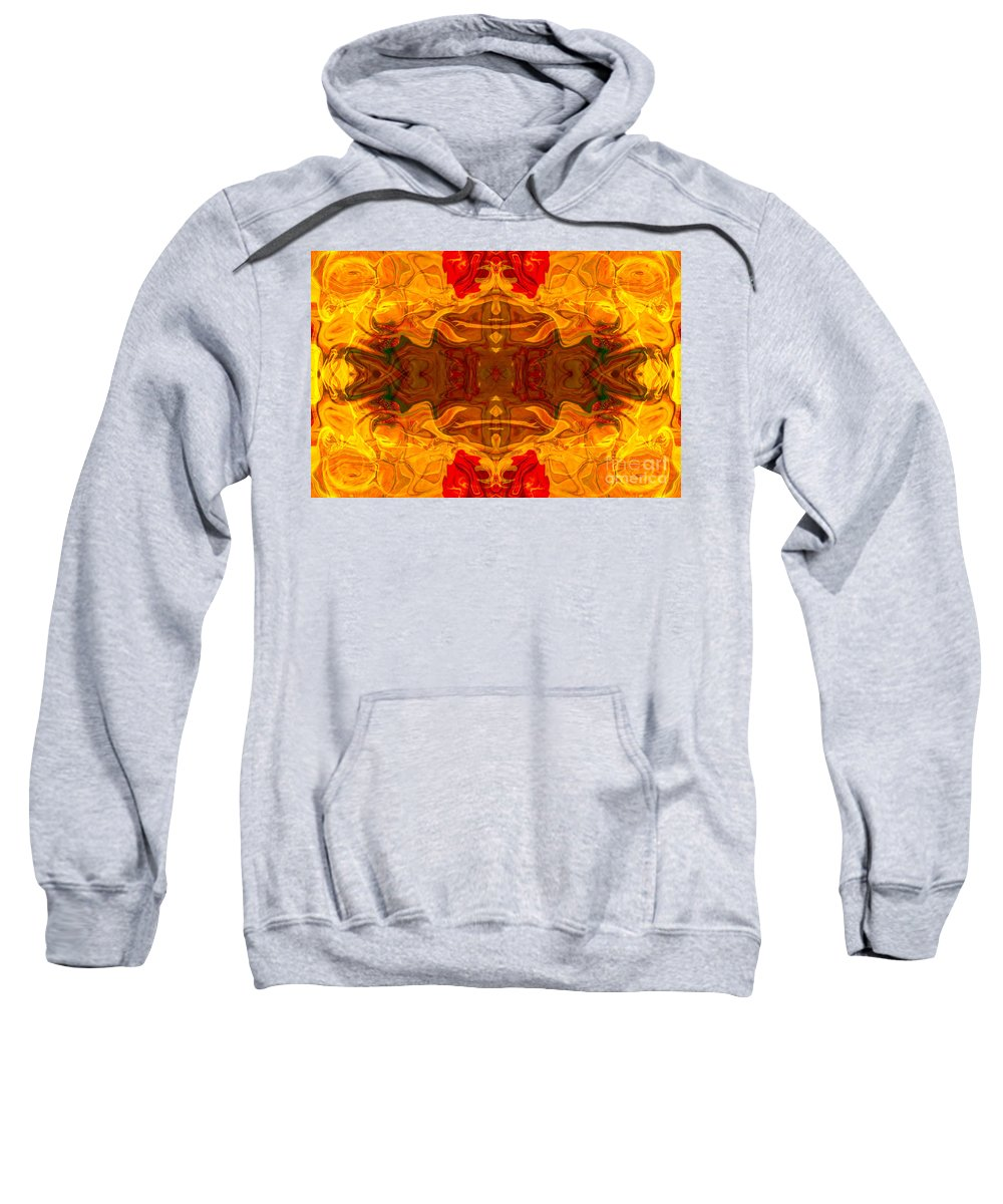 2x3 (4x6) Sweatshirt featuring the digital art Fire In The Sky Abstract Pattern Artwork by Omaste Witkowski