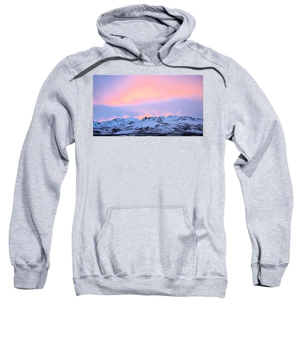 Fire Sweatshirt featuring the photograph Fire On The Mountain by Darcy Tate