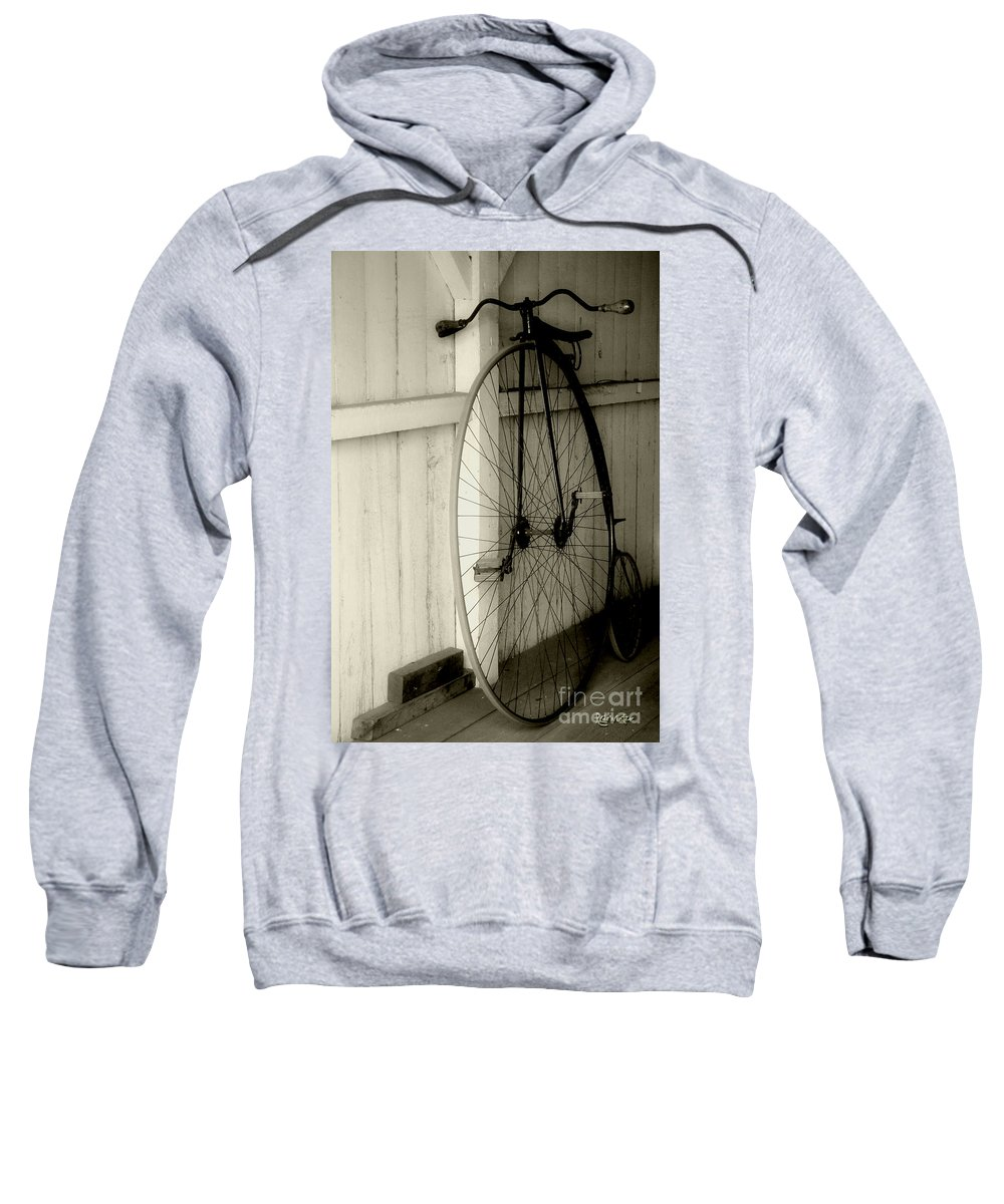 Velocipede Sweatshirt featuring the photograph Firehouse Velocipede by RC DeWinter