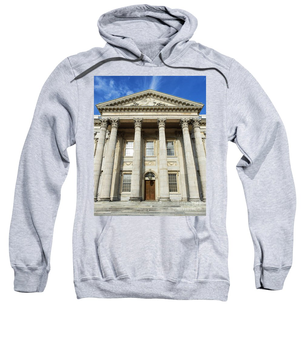Americana Sweatshirt featuring the photograph First Bank Of The United States Philadelphia by John Greim