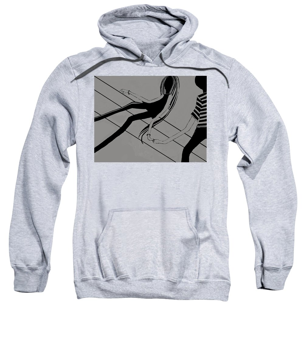 Fineartamerica.com Sweatshirt featuring the painting First Love  Number 4 by Diane Strain