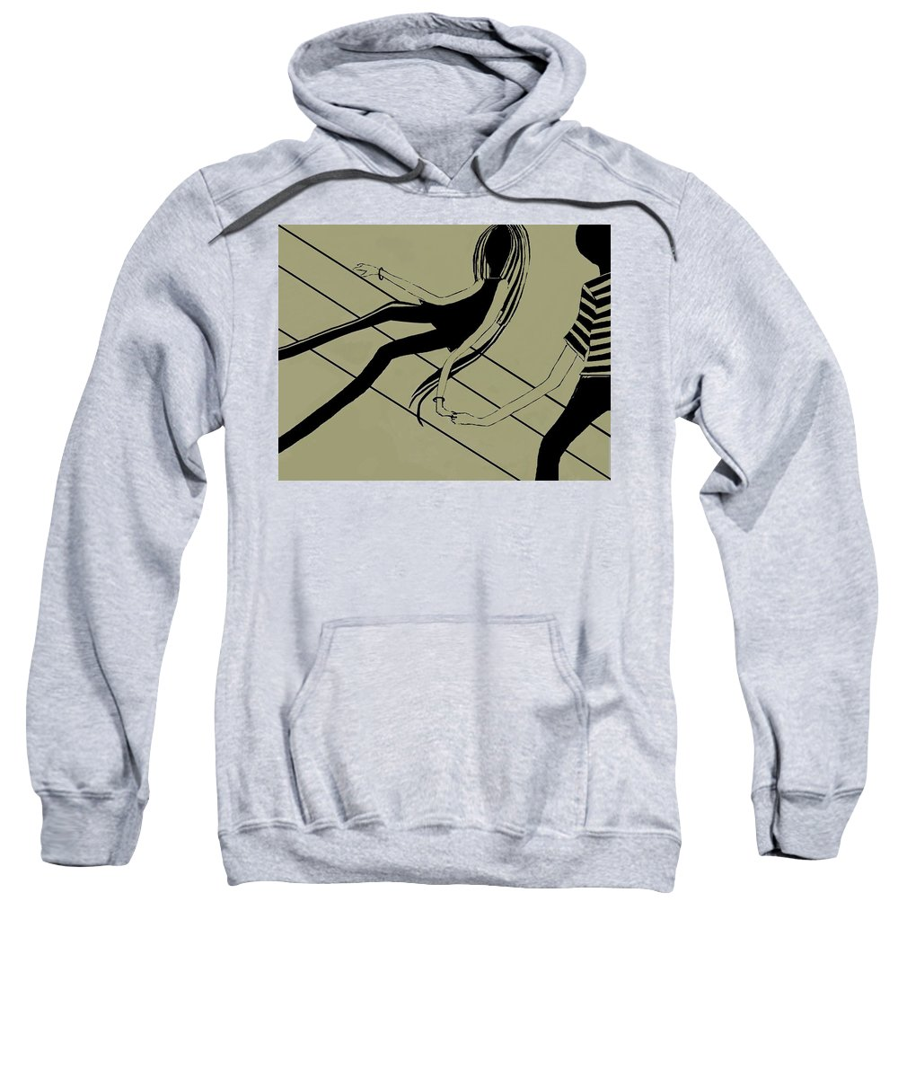 Fineartamerica.com Sweatshirt featuring the painting First Love  Number 5 by Diane Strain
