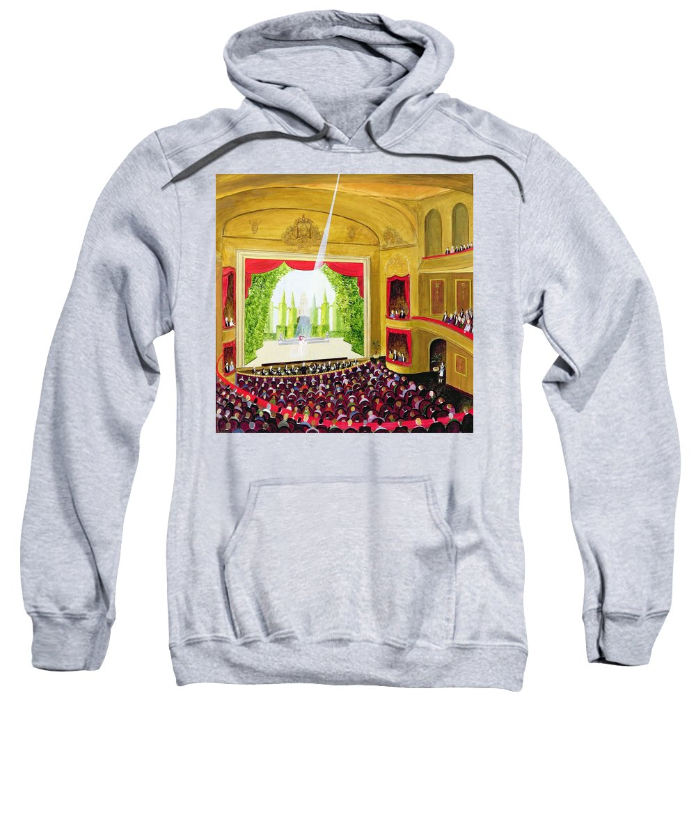Interior Sweatshirt featuring the photograph First Night Oil On Board by Mark Baring