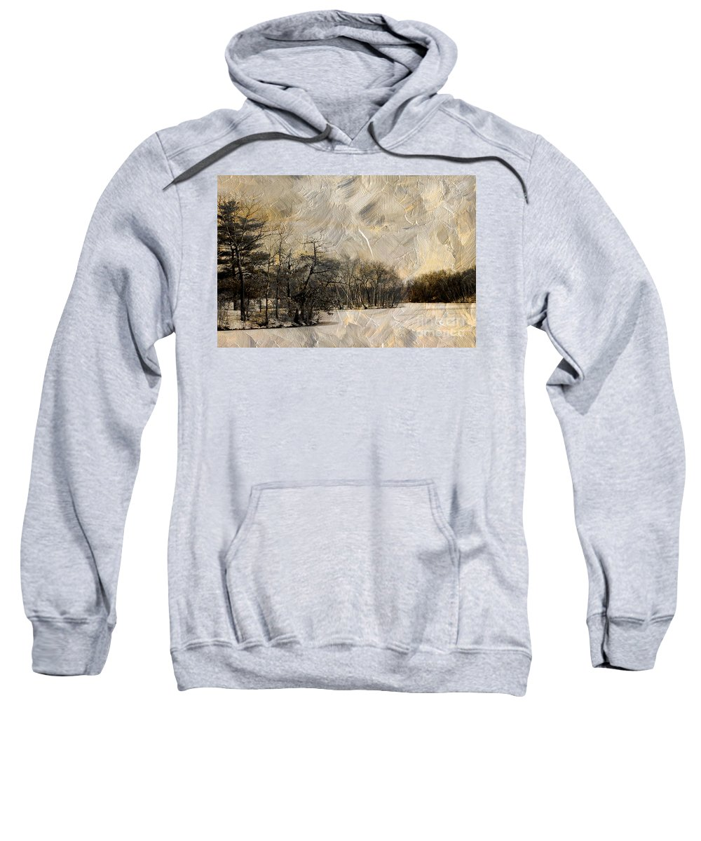 Winter Sweatshirt featuring the photograph First Winter by Mike Nellums