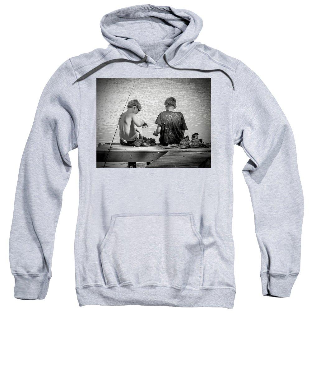 Active Sweatshirt featuring the photograph Fishin' by Sharon Meyer