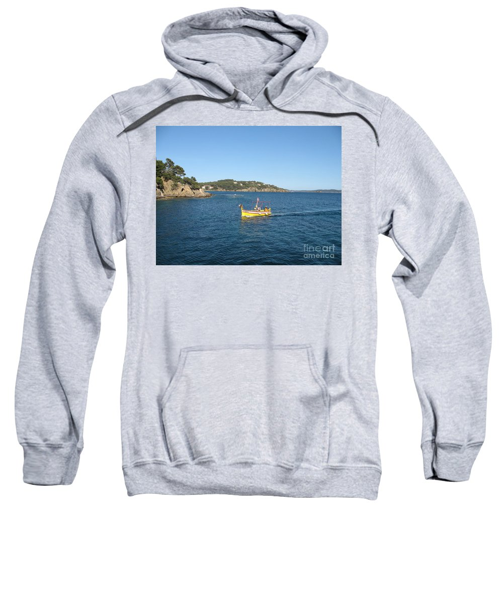 Boat Sweatshirt featuring the photograph Fishing Boat - Cote D'azur by Christiane Schulze Art And Photography