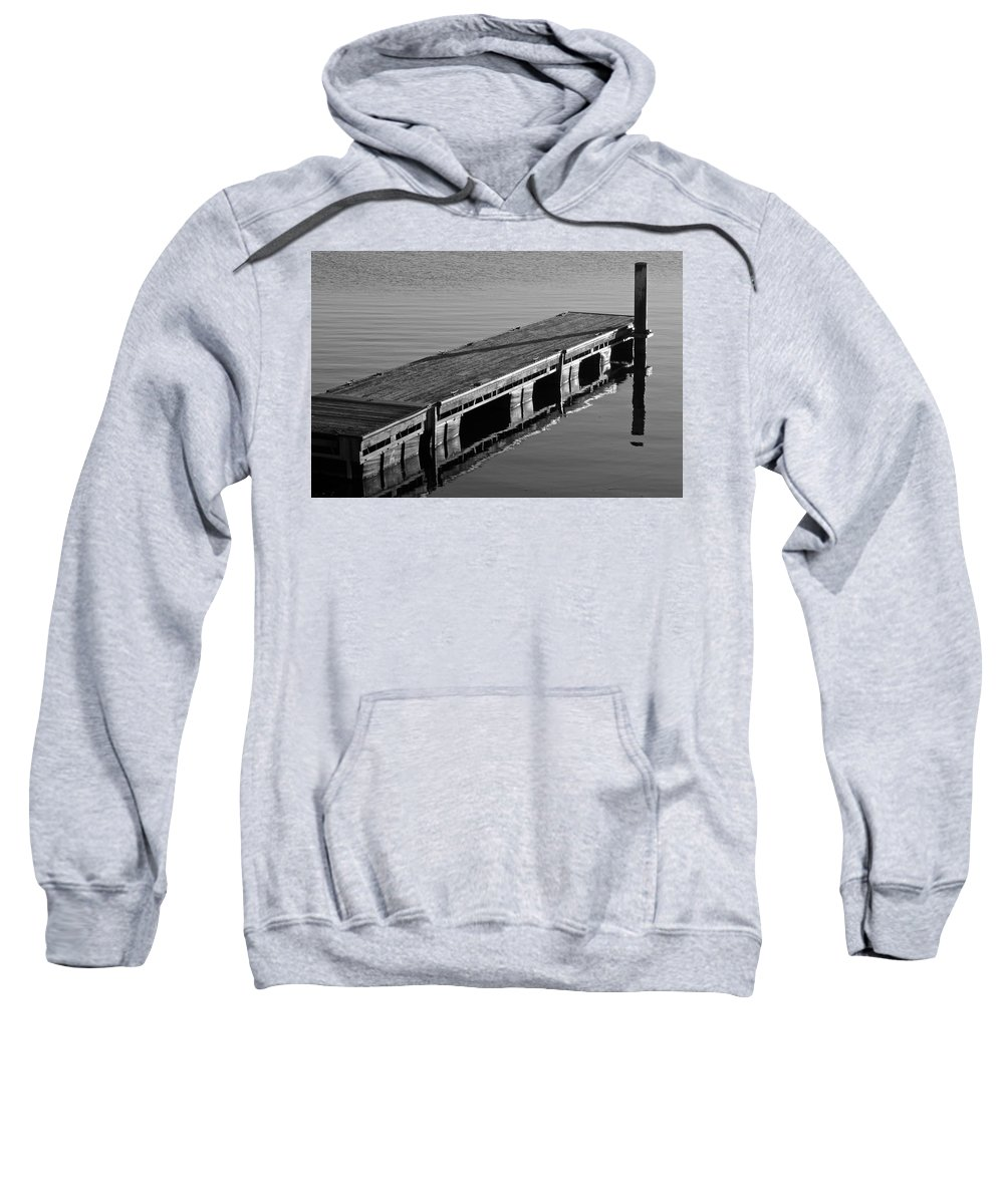 Dock Sweatshirt featuring the photograph Fishing Dock by Frozen in Time Fine Art Photography
