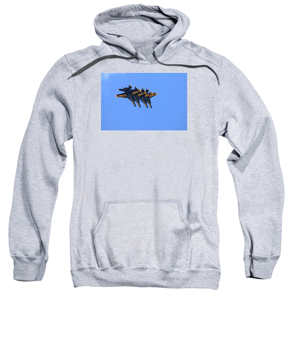 5059 Sweatshirt featuring the photograph Four Hornets In Close Trail by Gordon Elwell