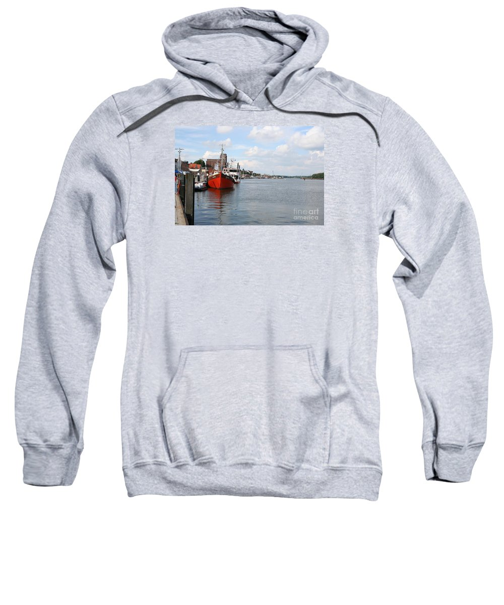 Fjord Sweatshirt featuring the photograph Fjord Schlei - Kappeln by Christiane Schulze Art And Photography