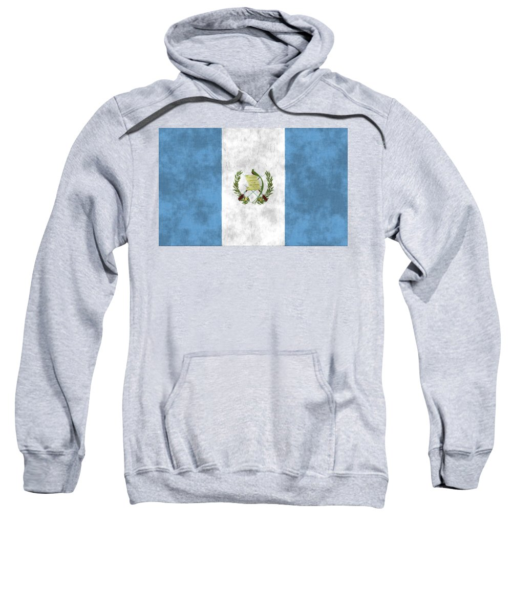 Central America Sweatshirt featuring the digital art Flag Of Guatamala by World Art Prints And Designs