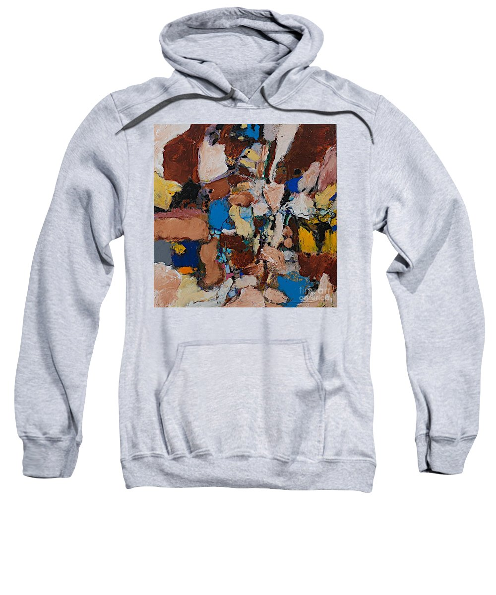Landscape Sweatshirt featuring the painting Flaming Enthusiasm by Allan P Friedlander