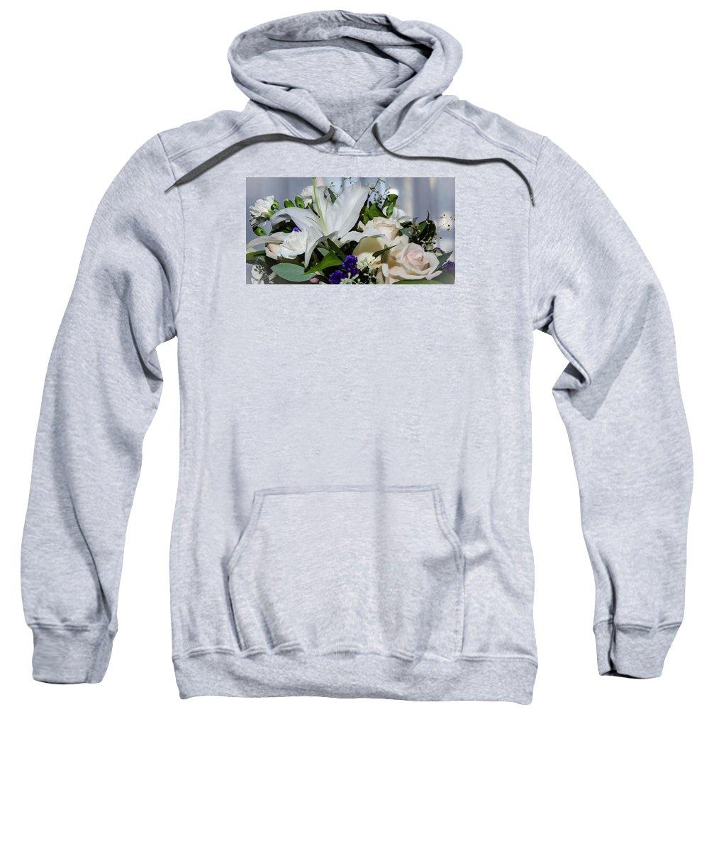 Floral Arrangement Sweatshirt featuring the photograph Floral Arrangement by Susan McMenamin