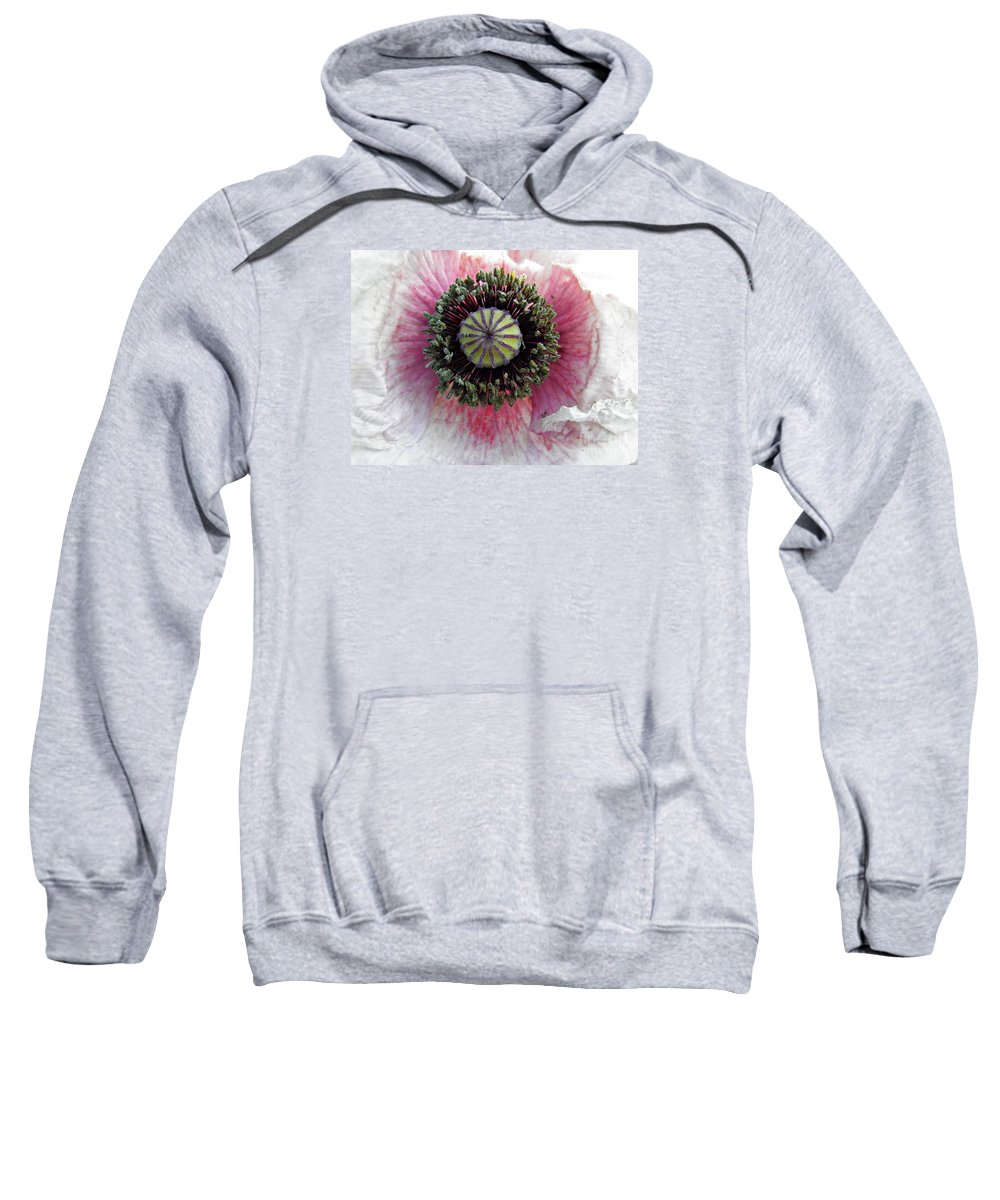 Poppy Sweatshirt featuring the photograph Floral Geometry by Sarah Loft