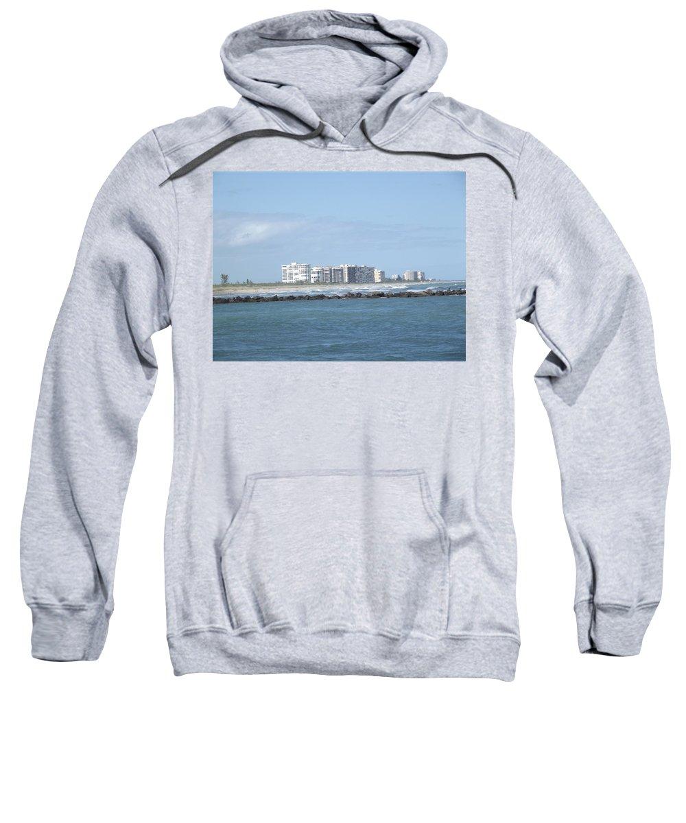 Skyline Sweatshirt featuring the photograph Florida Skyline by Jennifer Lavigne