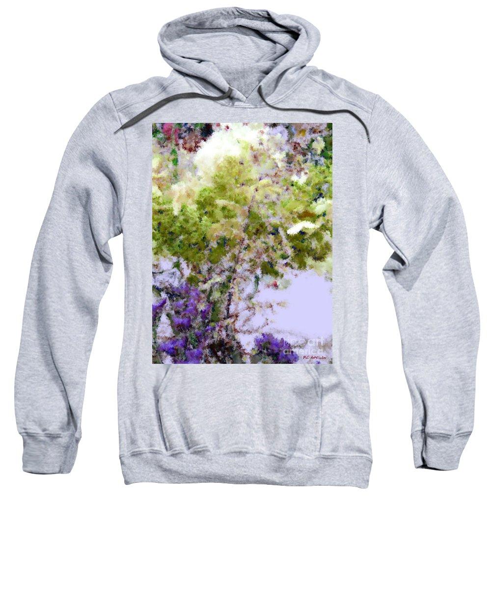 Flowers Sweatshirt featuring the painting Flower Market Ile De La Cite by RC DeWinter
