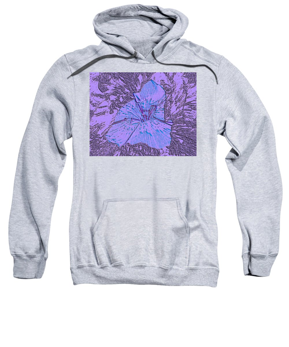 Celebrate Sweatshirt featuring the digital art Flower Of Purple by Sergey Bezhinets