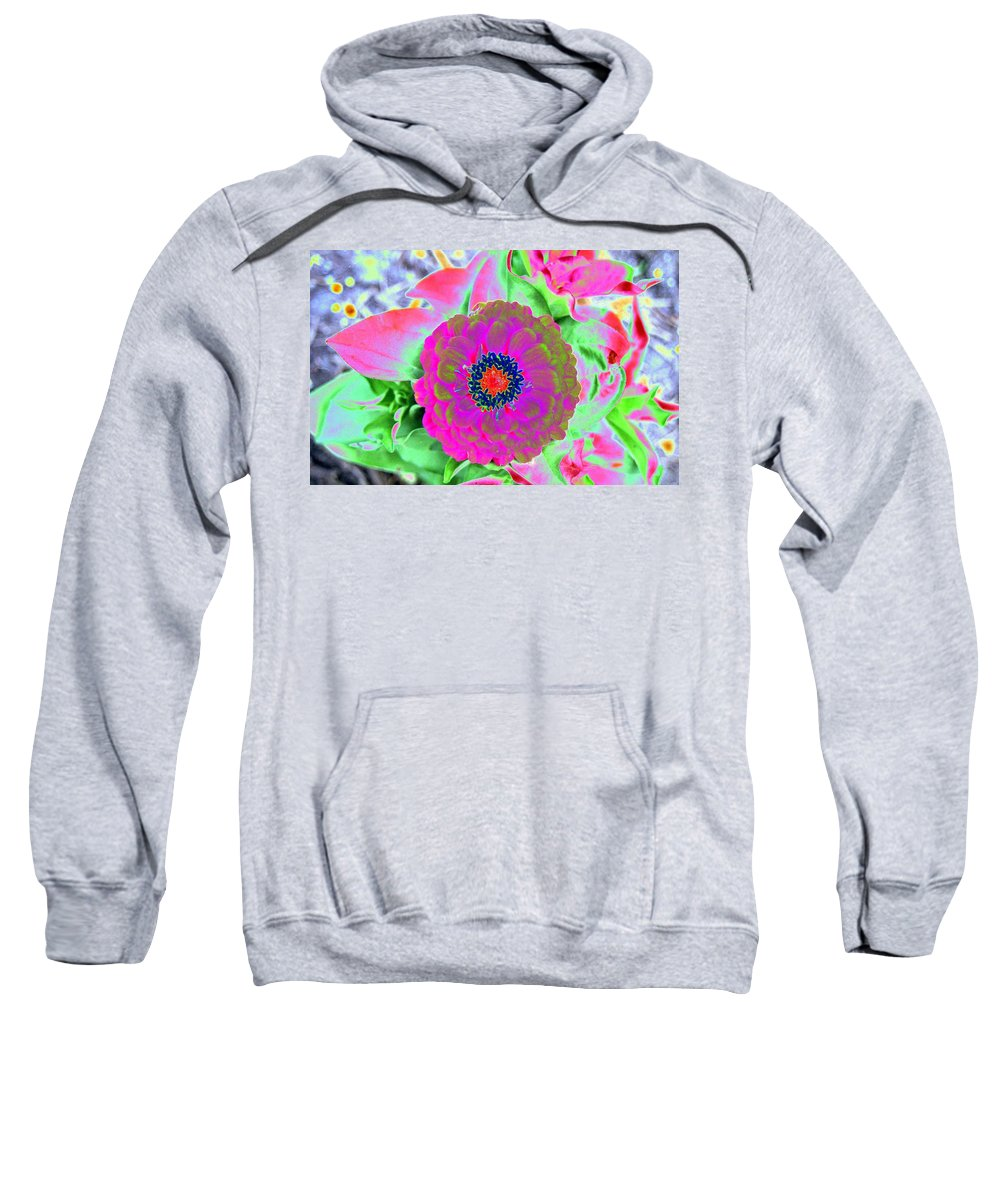 Flowers Sweatshirt featuring the photograph Flower Power 1461 by Pamela Critchlow