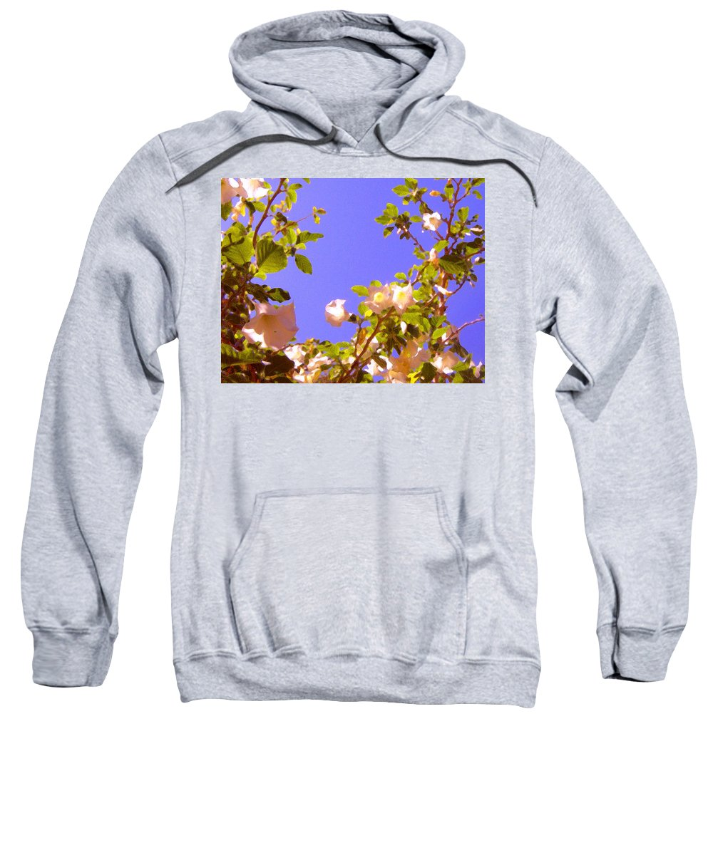 Landscapes Sweatshirt featuring the painting Flowering Tree 2 by Amy Vangsgard