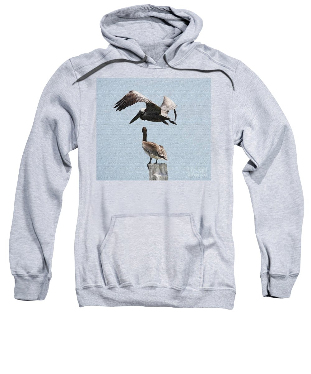Flying Bird Sweatshirt featuring the painting Flying by Christine Dekkers