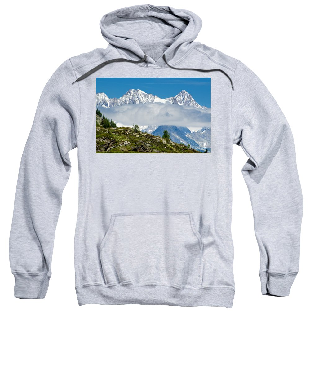 Mountains Sweatshirt featuring the photograph Flying Cloud by Mats Silvan