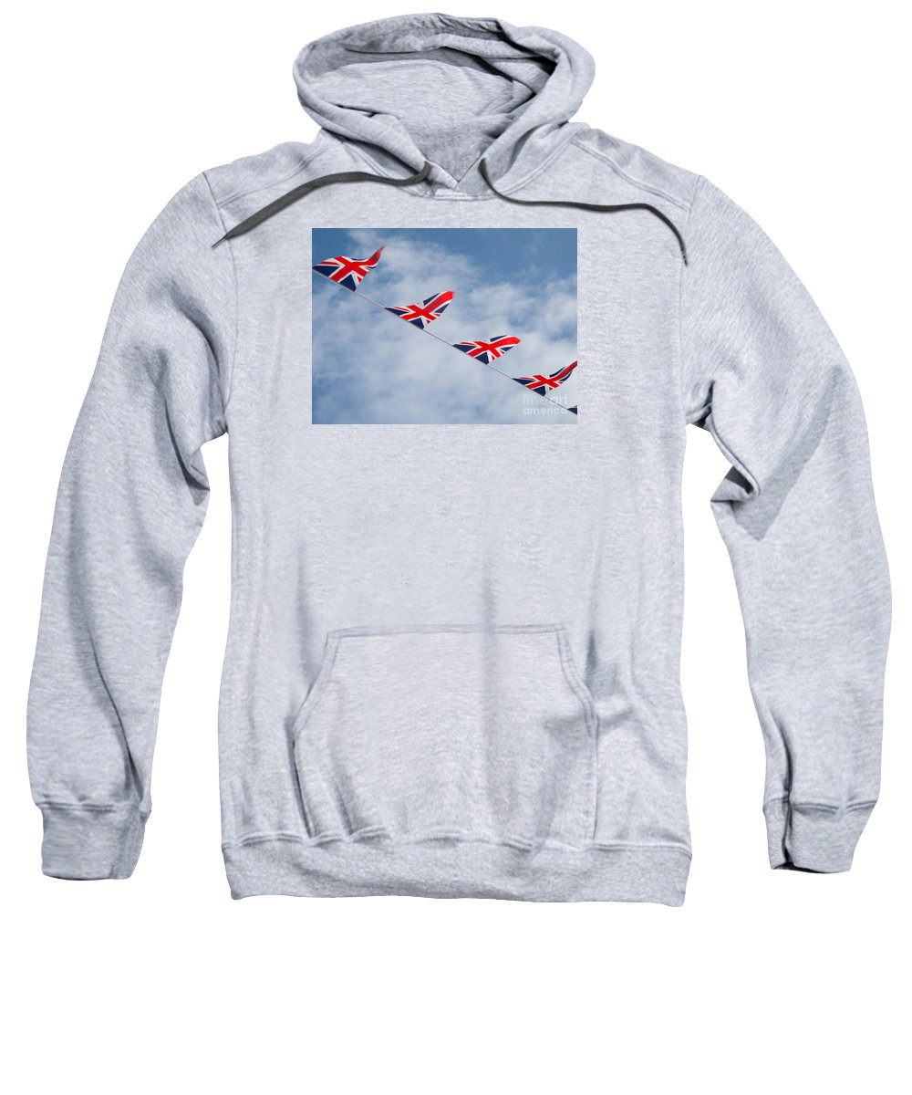 Flag Sweatshirt featuring the photograph Flying The Union Jack by Ann Horn