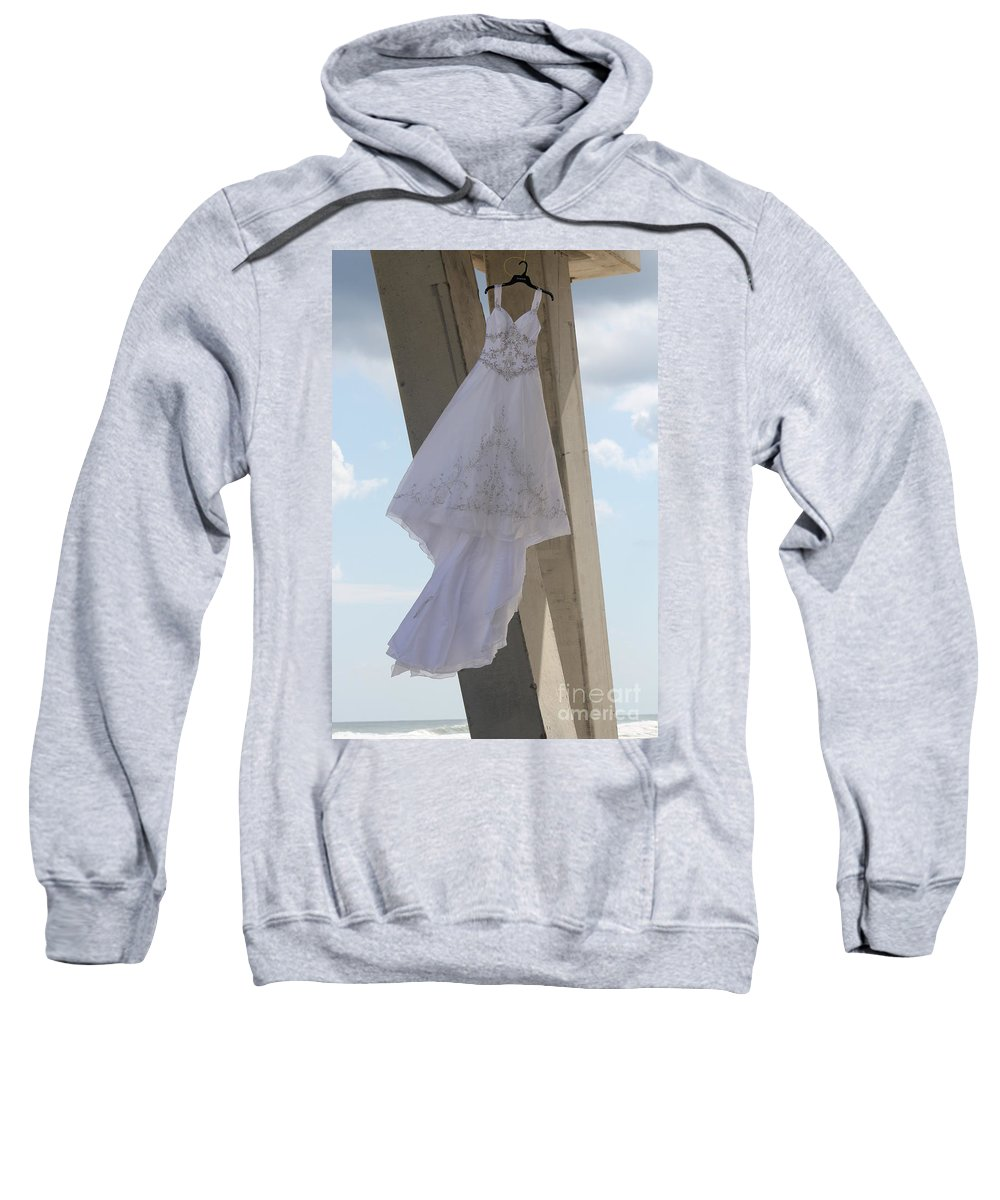 Ft.walton Beach Sweatshirt featuring the photograph Flying Wedding Dress 2 by Michelle Powell
