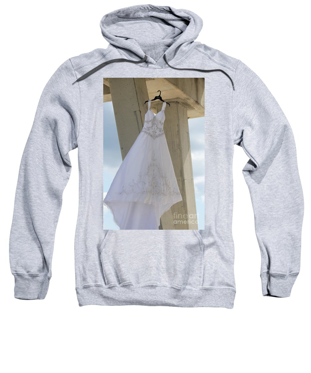 Ft.walton Beach Sweatshirt featuring the photograph Flying Wedding Dress 3 by Michelle Powell