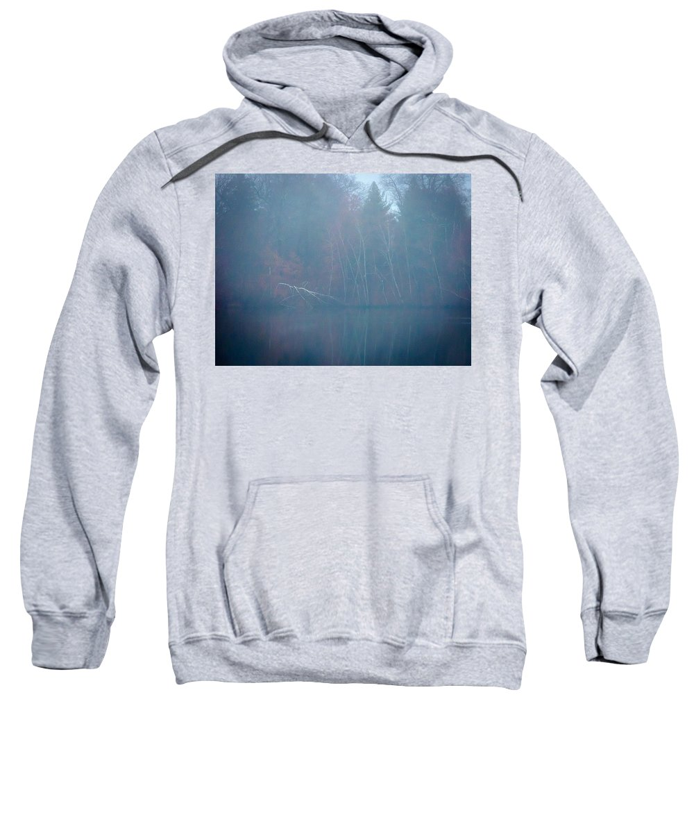 New England Sweatshirt featuring the photograph Fog And Fall by DAC Photography