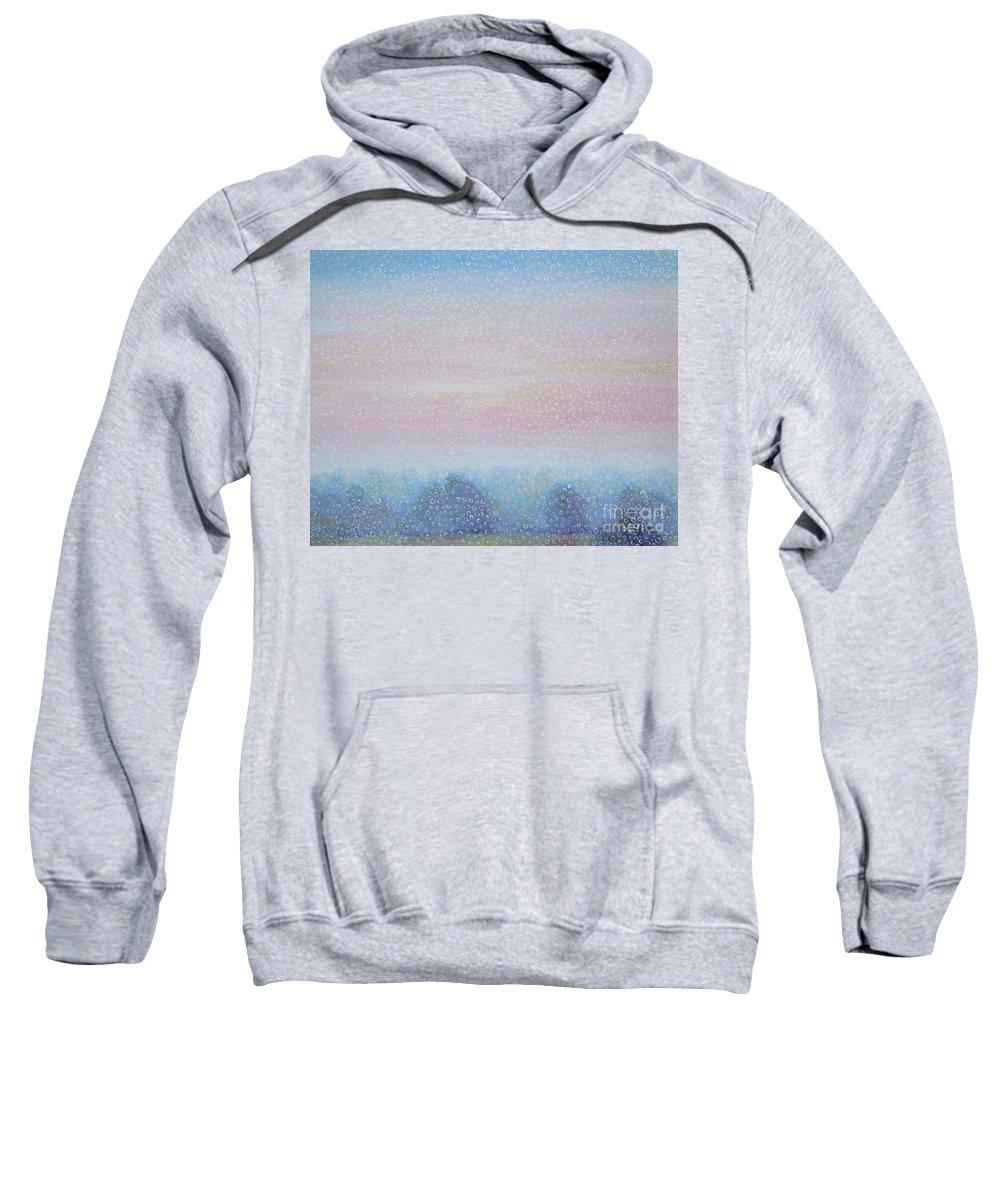 Landscape Sweatshirt featuring the painting Fog by Tonya Henderson