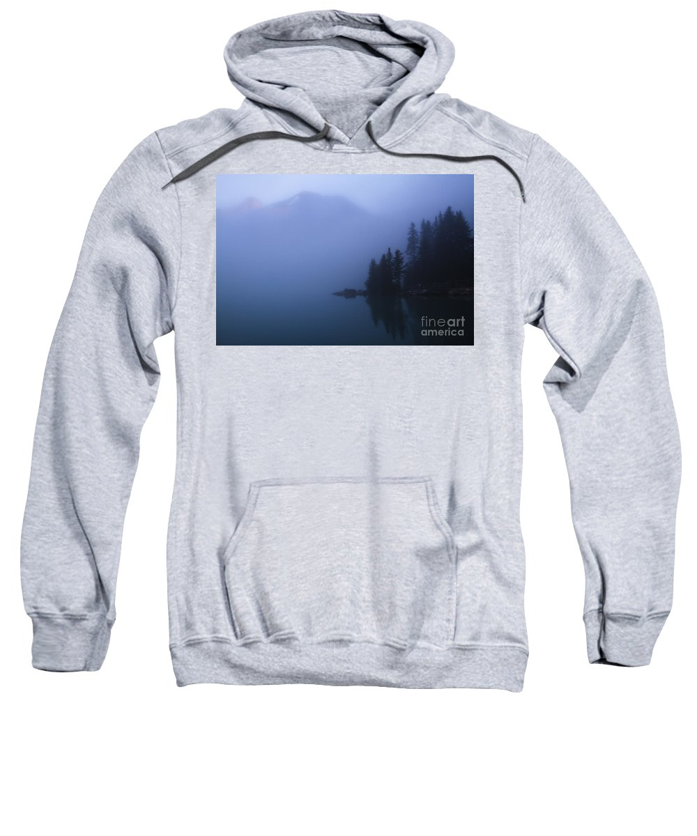 Lake Louise Sweatshirt featuring the photograph Foggy Sunrise by Dennis Hedberg