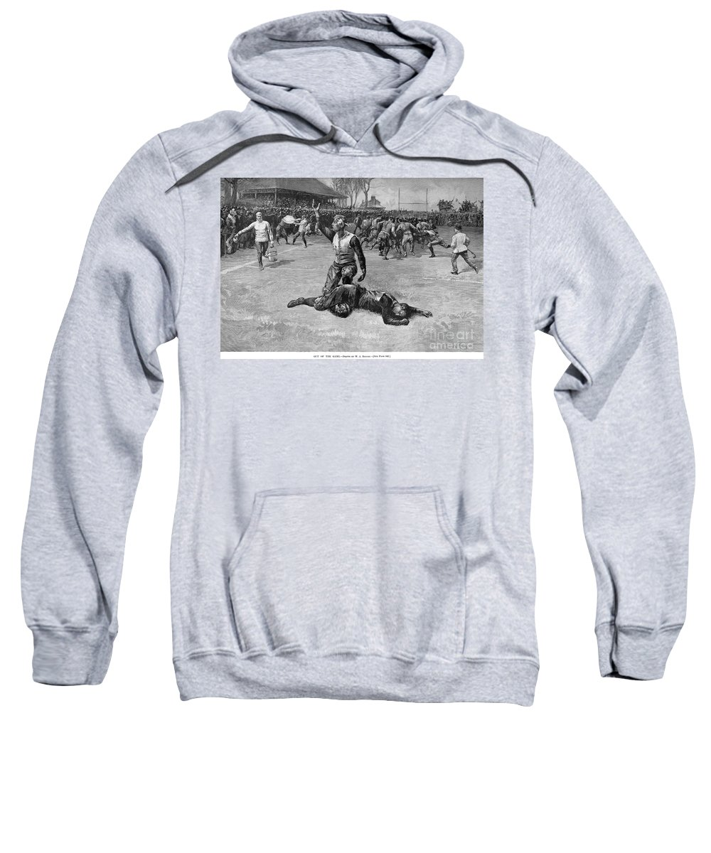 1891 Sweatshirt featuring the photograph Football Injury, 1891 by Granger
