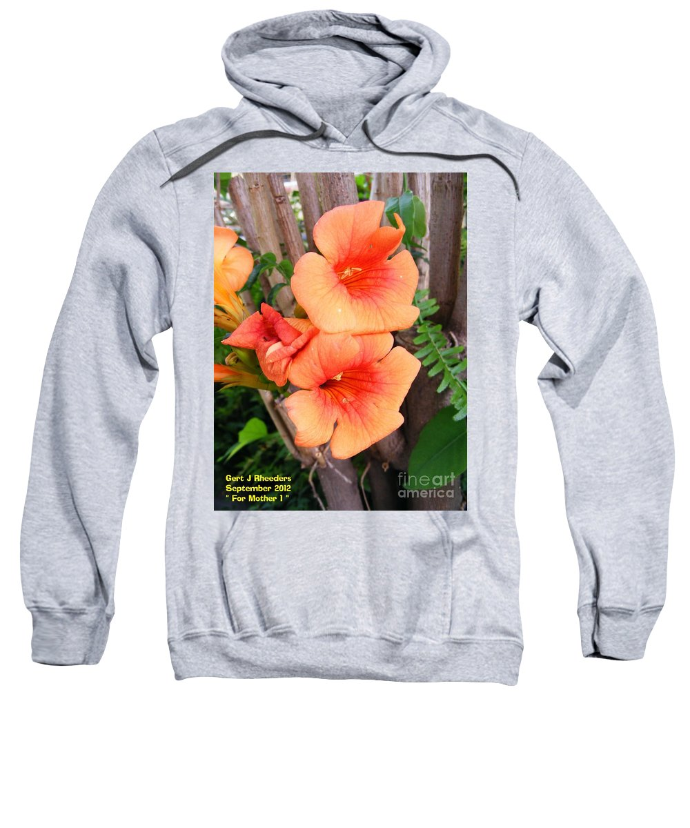 Nature Sweatshirt featuring the painting For Mother by Gert J Rheeders