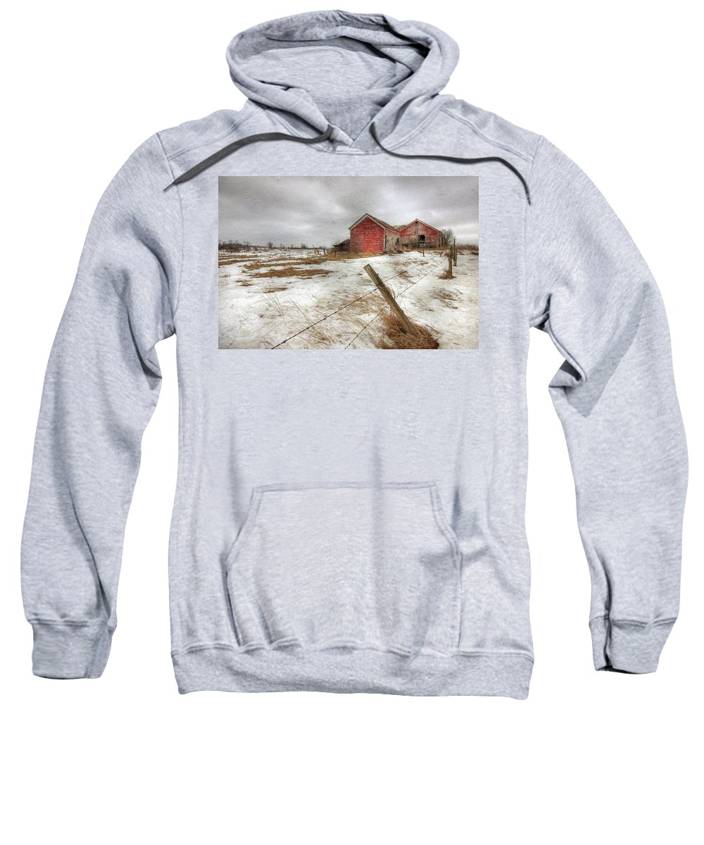 Old Red Barn Sweatshirt featuring the photograph For Sale by Lori Deiter