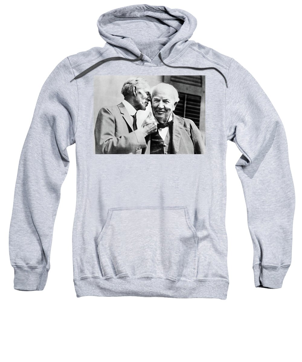 1930 Sweatshirt featuring the photograph Ford And Edison, C1930 by Granger