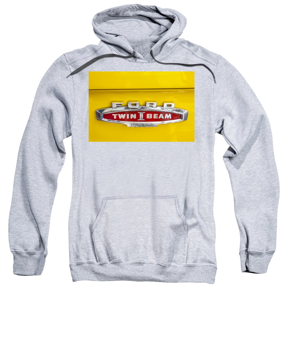 Ford Logo Sweatshirt featuring the photograph Ford Tough 1966 Truck by Rich Franco