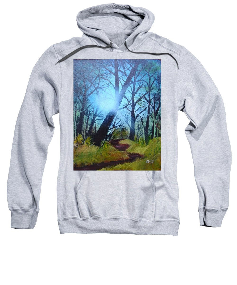 Painting Sweatshirt featuring the painting Forest Sunlight by Charles and Melisa Morrison