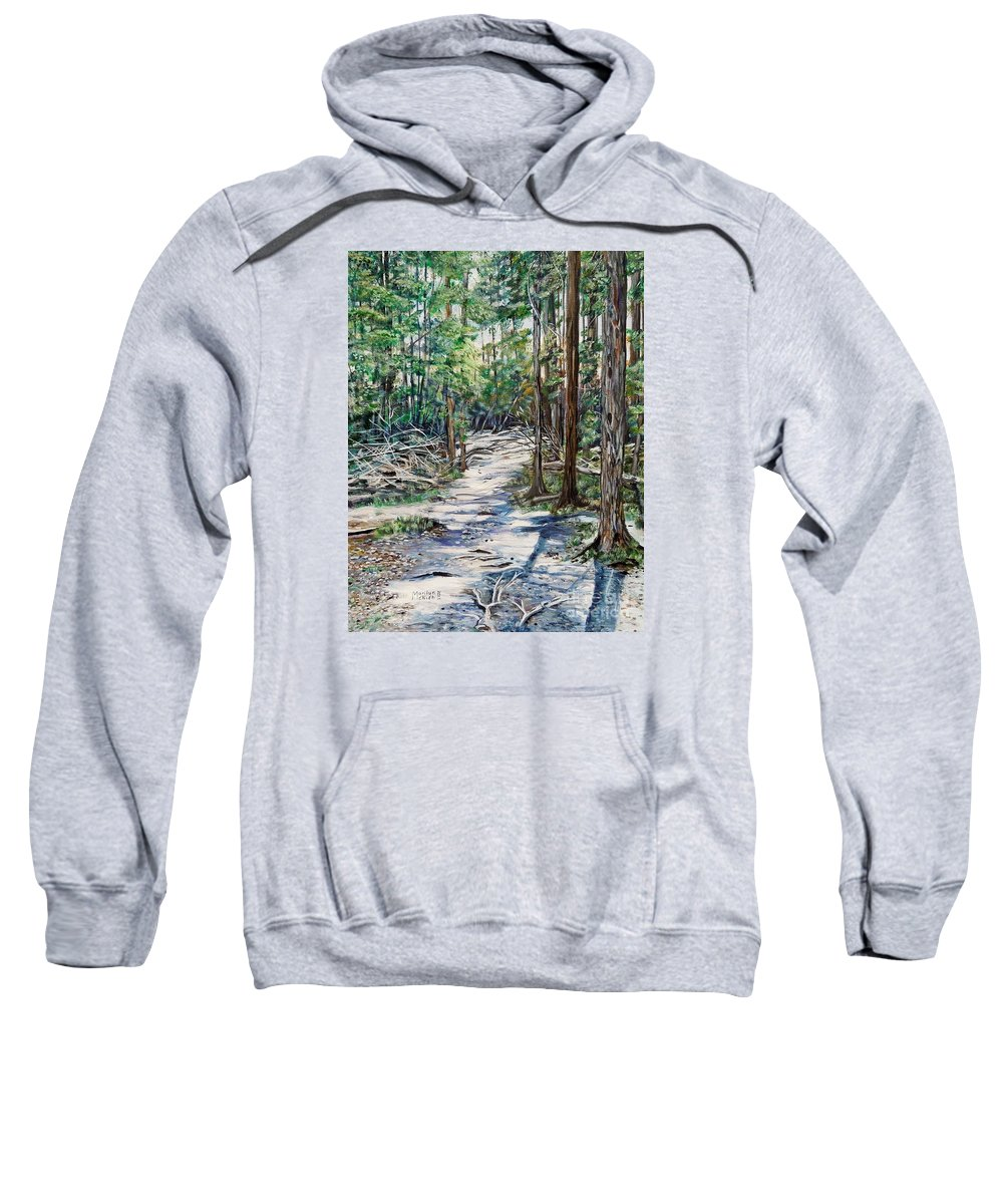 Forest Sweatshirt featuring the painting Forest Trail by Marilyn McNish