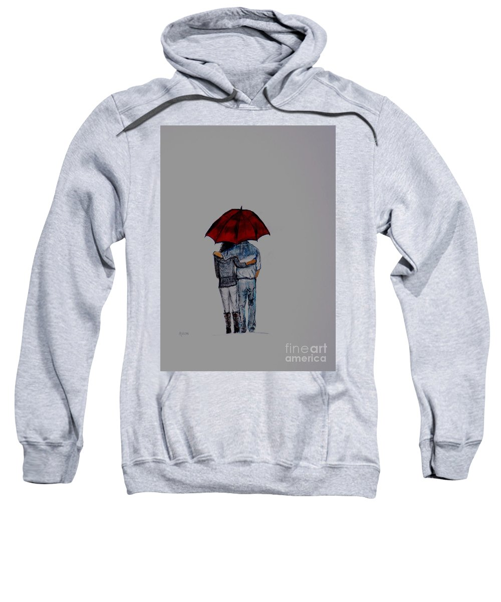 Couple Painting Sweatshirt featuring the painting Forever By Your Side Series II by Leslie Allen