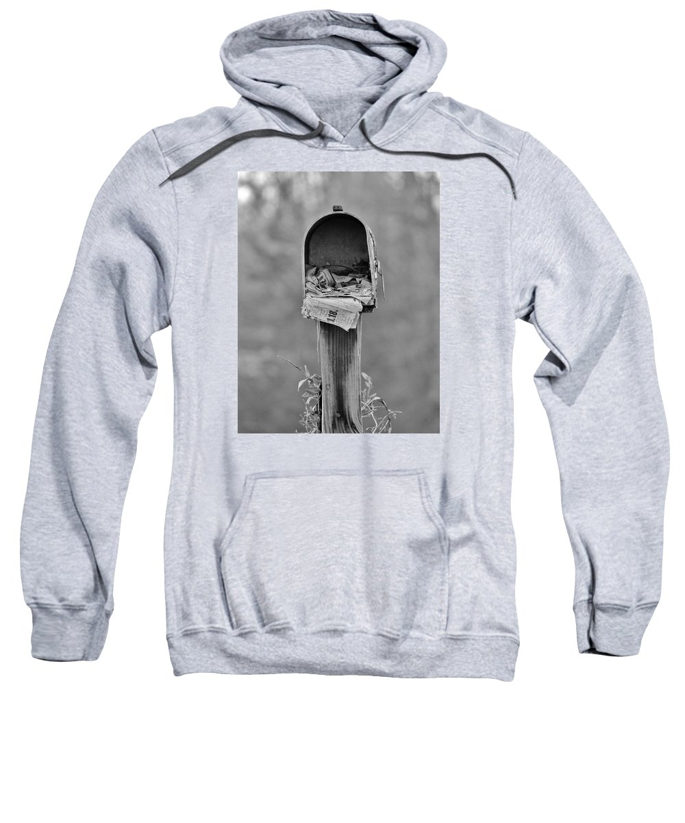 Mail Sweatshirt featuring the photograph Forgotten Mail by Cynthia Guinn