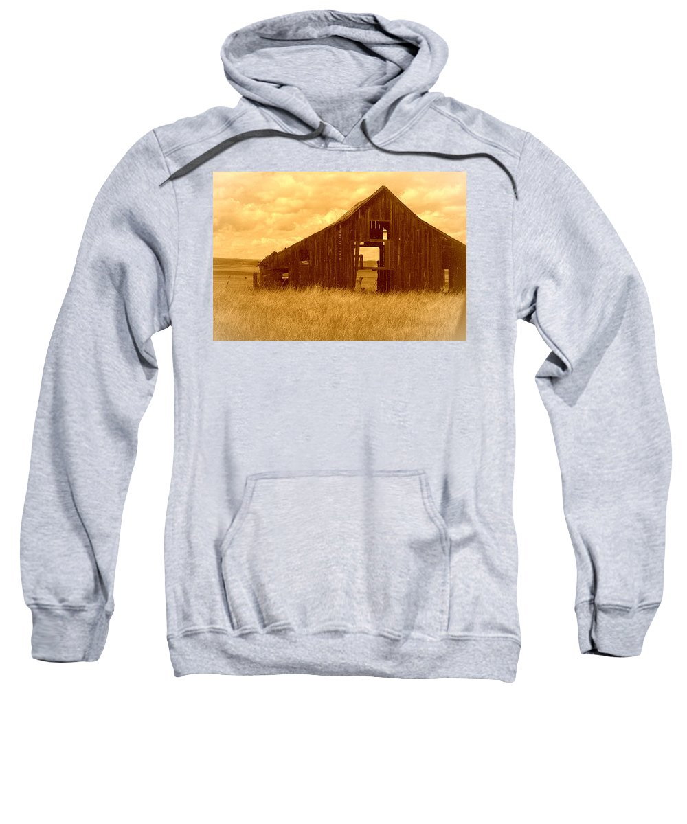 Oregon Sweatshirt featuring the photograph Forgotten by Terry Holliday