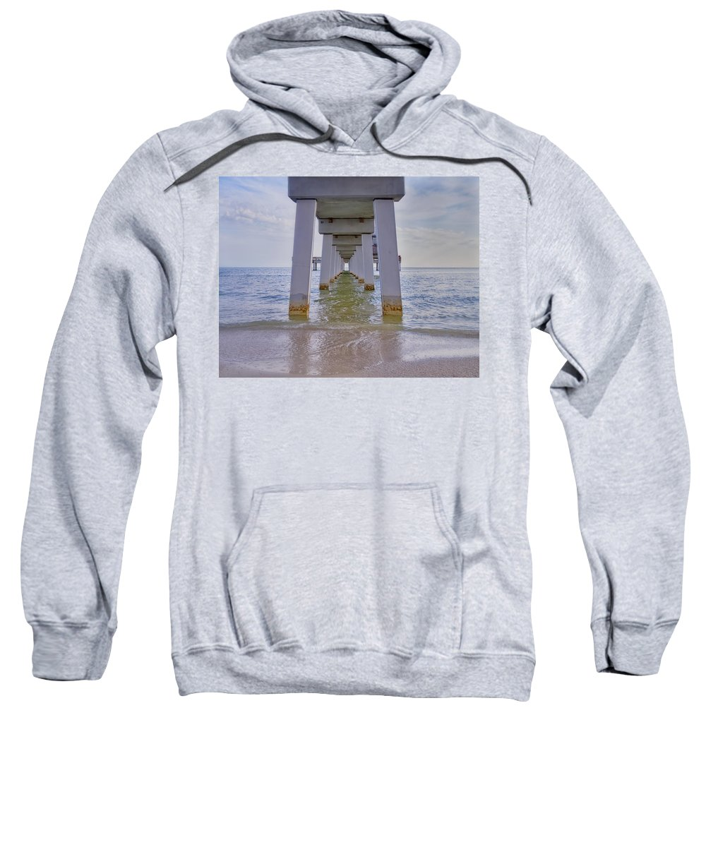 Pier Sweatshirt featuring the photograph Fort Myers Beach Pier by Kim Hojnacki