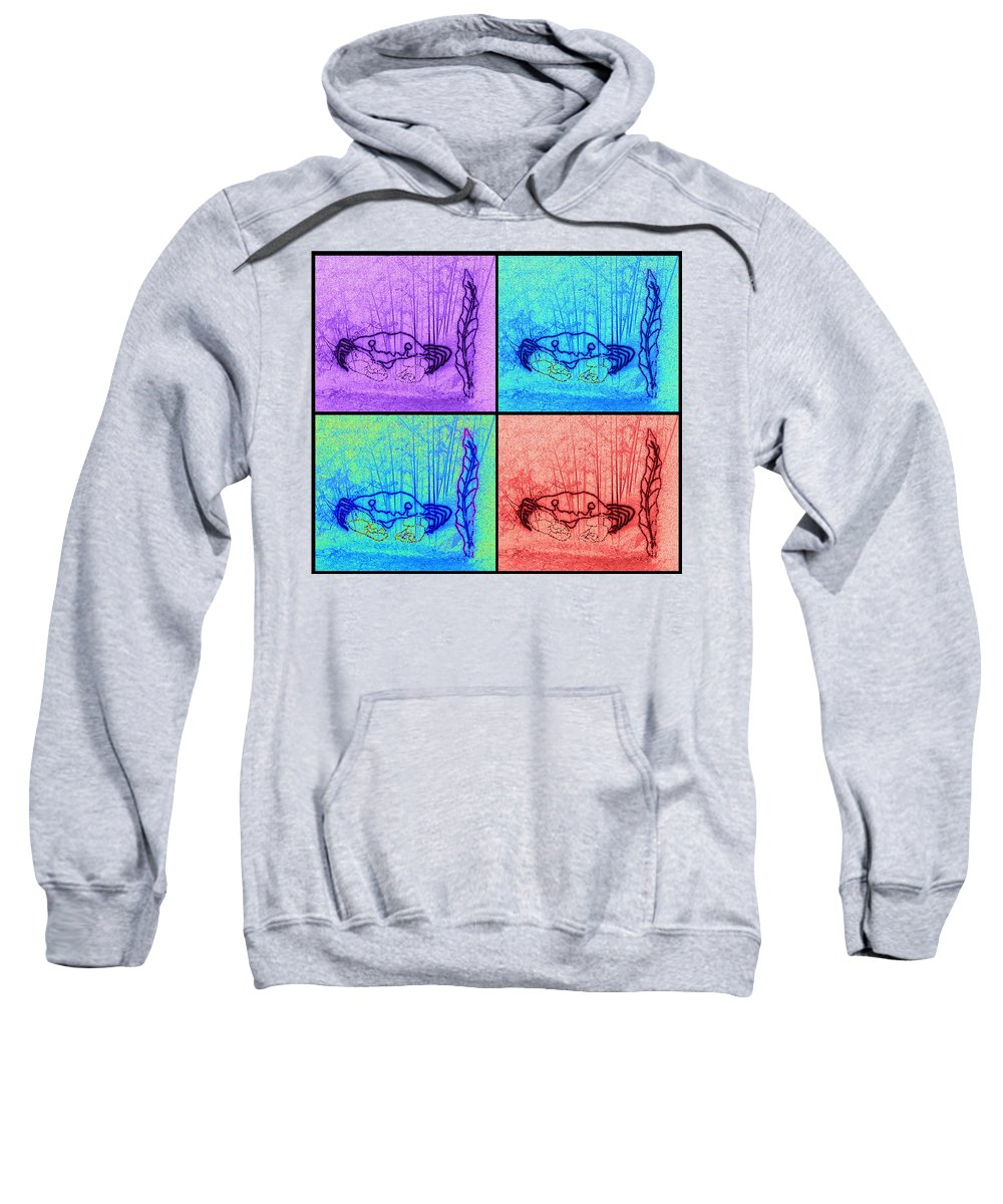 Digital Art Sweatshirt featuring the photograph Four Crabs Under The Sea by Marian Bell