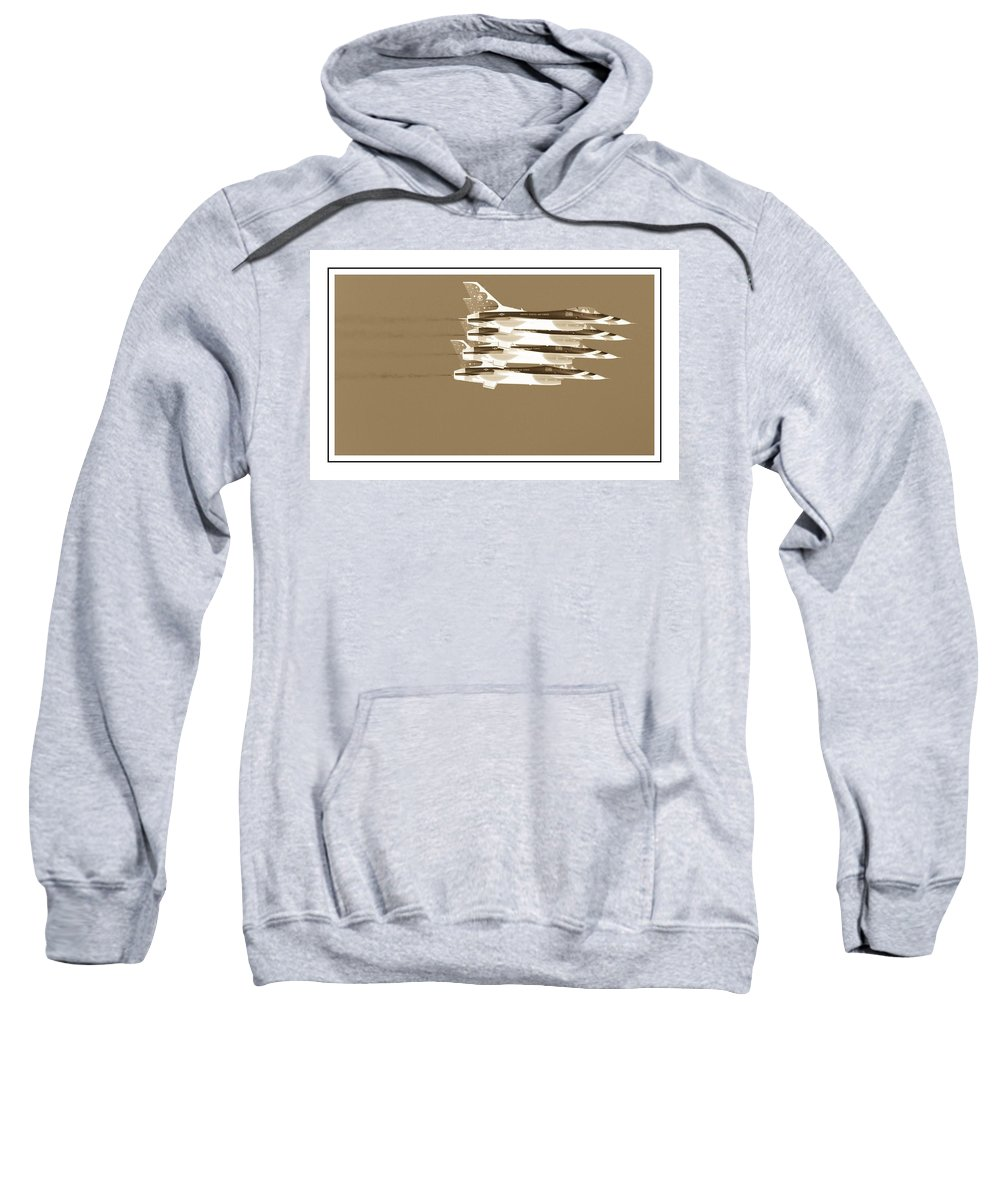 Air Show Sweatshirt featuring the photograph Four In A Row by Alice Gipson
