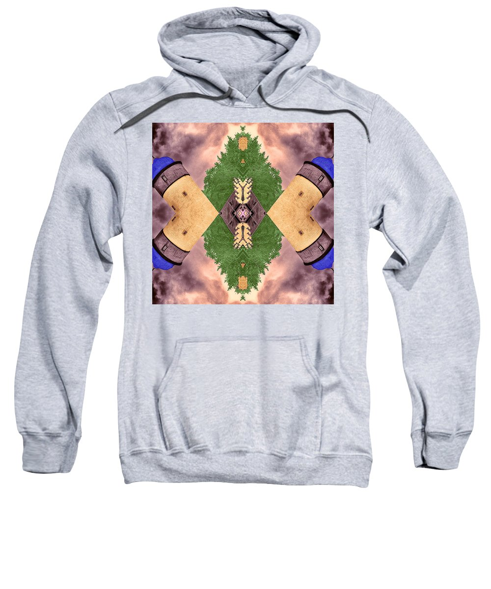 Four Towers Sweatshirt featuring the photograph Four Towers Sigil by Dominic Piperata