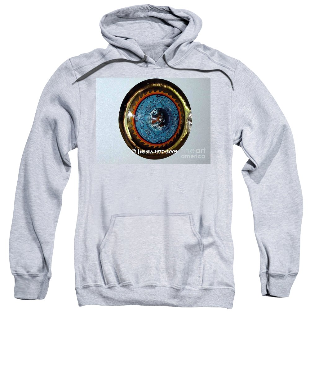 Earth Sweatshirt featuring the photograph Freddie White Cymbal Earth Wind Fire Spirit Tour by Jussta Jussta
